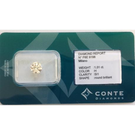 Conte Diamonds 1,01 ct H/SI1