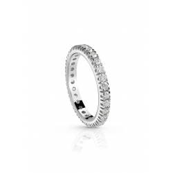 Anello Eternity griffe quadra 2.10 ct