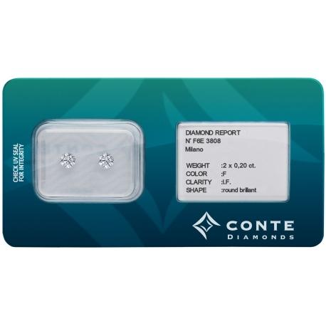 Conte Diamonds 2x0,20 ct F/IF