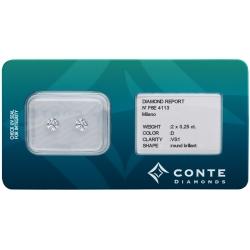 Conte Diamonds 2x0,25 ct D/VS1