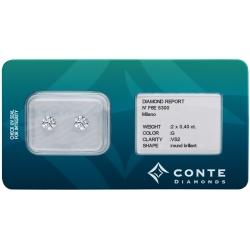 Conte Diamonds 2x0,40 ct G/VS2