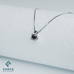 Collana punto luce - diamante nero 0,30 ct