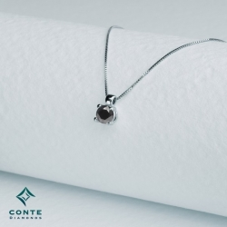 Collana punto luce - diamante nero 0,50 ct