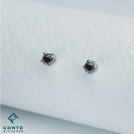Orecchini punto luce - diamanti neri 0,60 ct