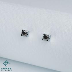 Orecchini punto luce - diamanti neri 0,80 ct
