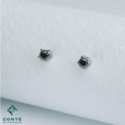 Orecchini punto luce - diamanti neri 1,00 ct