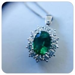 Collana Smeraldo&Diamanti