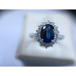Anello Zaffiro&Diamanti